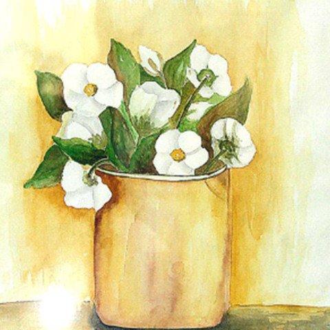 Flower in watercolour