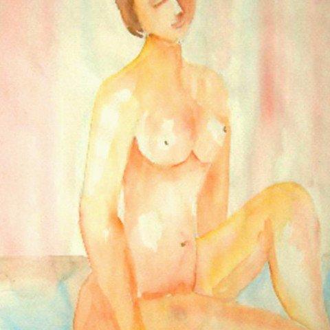 Nude in watercolour