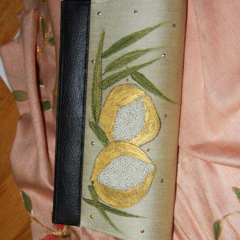 Embroidered silk purse