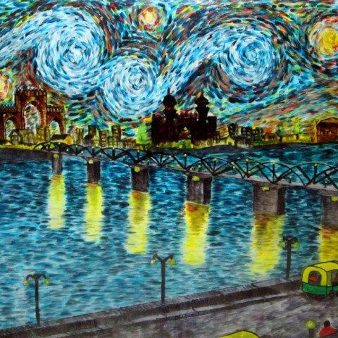 'Ahmedabad' Van Gogh inspired