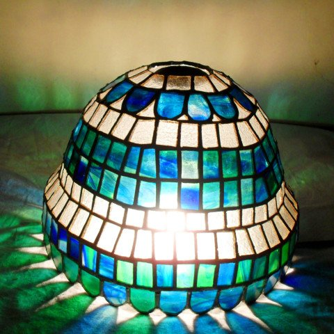 Blue Theme Stained Glass Lamp