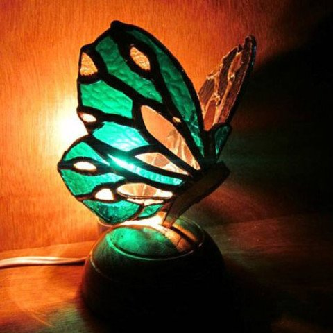 Butterfly Theme Stained Glass Table Lamp