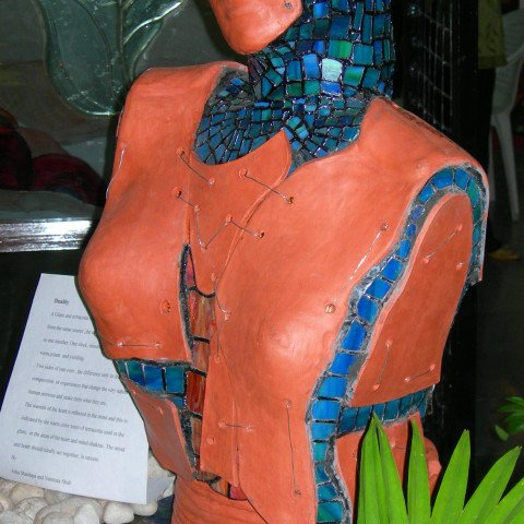 Duality, A Glass & Terracotta Sculpture