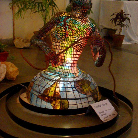 Mother Earth, A Stained Glass Sculpture