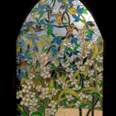 Stained Glass Arch Panel 1