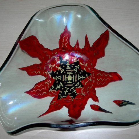 'Zodiac', Slumped Glass Dish