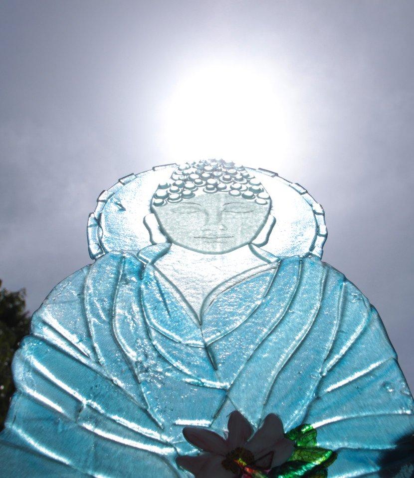 Hot Glass Profile cut, Fused Glass Buddha