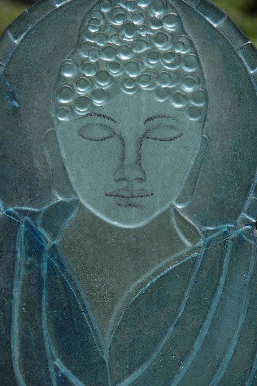 Hot Glass Profile cut, Fused Glass Buddha1