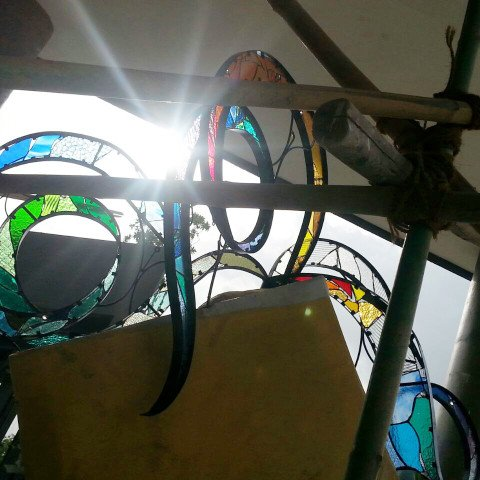 Stained Glass Details of Sculpture Club